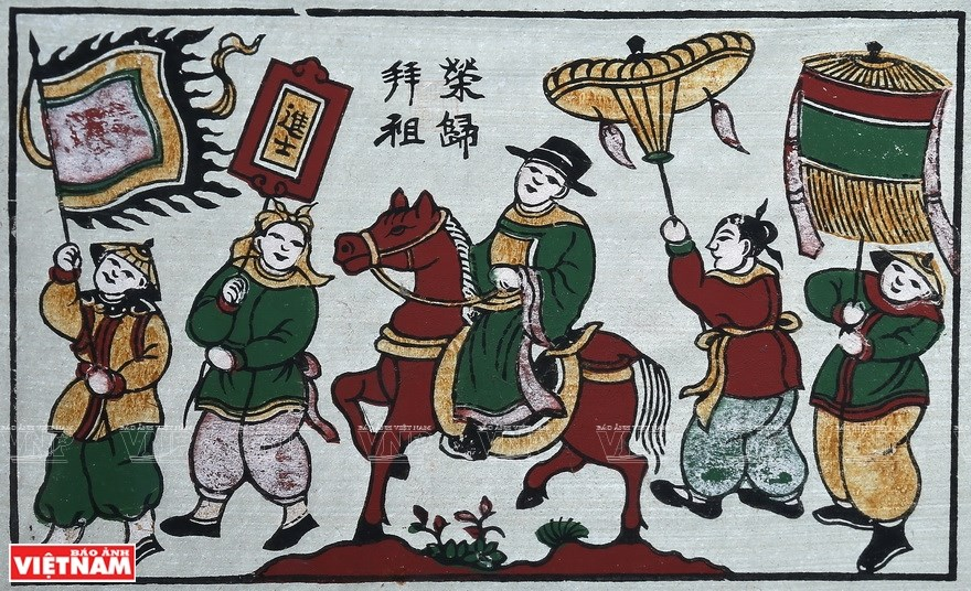 Dong Ho paintings reveal Vietnamese unique folk culture hinh anh 10