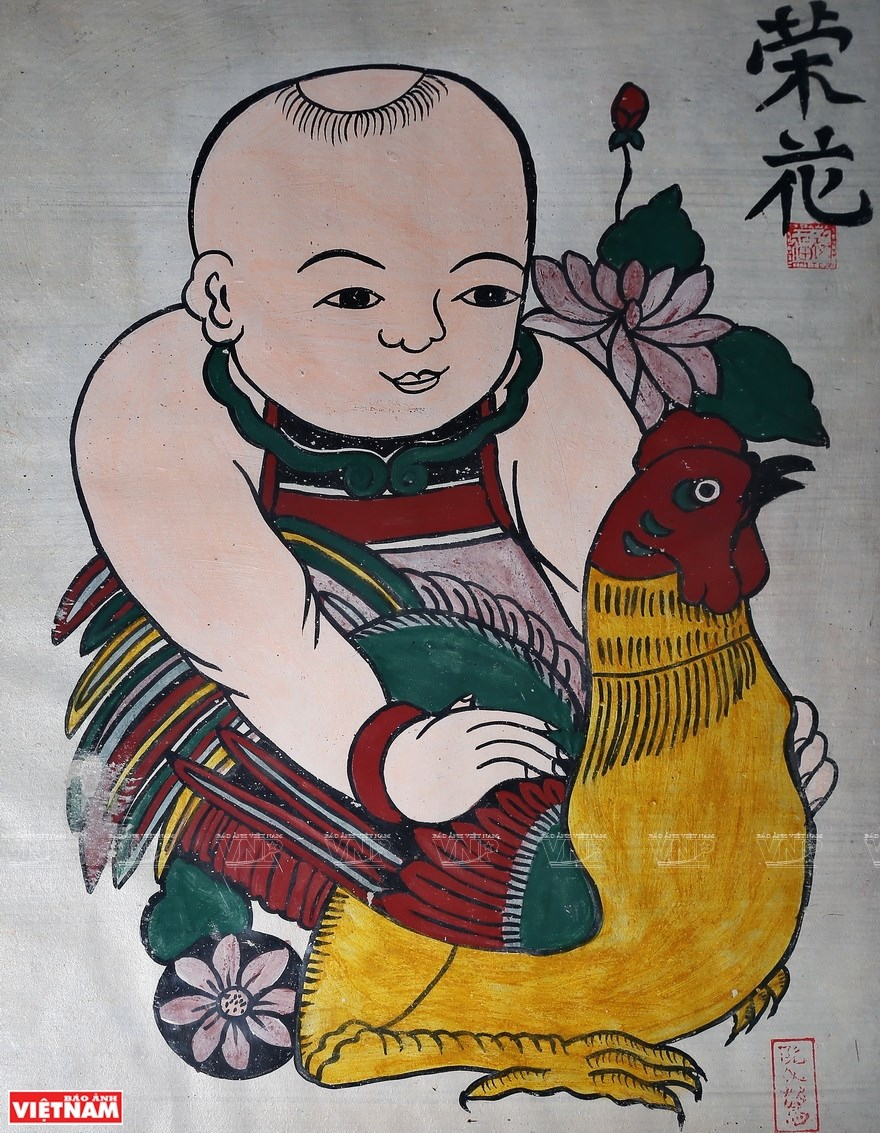 Dong Ho paintings reveal Vietnamese unique folk culture hinh anh 8