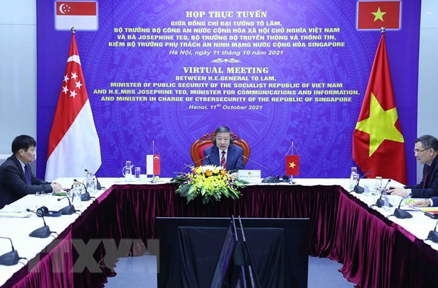 Vietnam, Singapore discuss enhancing cyber security ties hinh anh 1