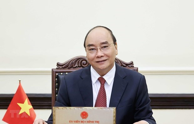 President asks for continued support from US in pandemic fight hinh anh 1