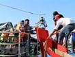 Binh Dinh: six fishermen aboard sunken boat rescued