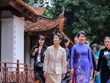 Wife of Japanese PM visits Temple of Literature, Vietnamese Women's Museum