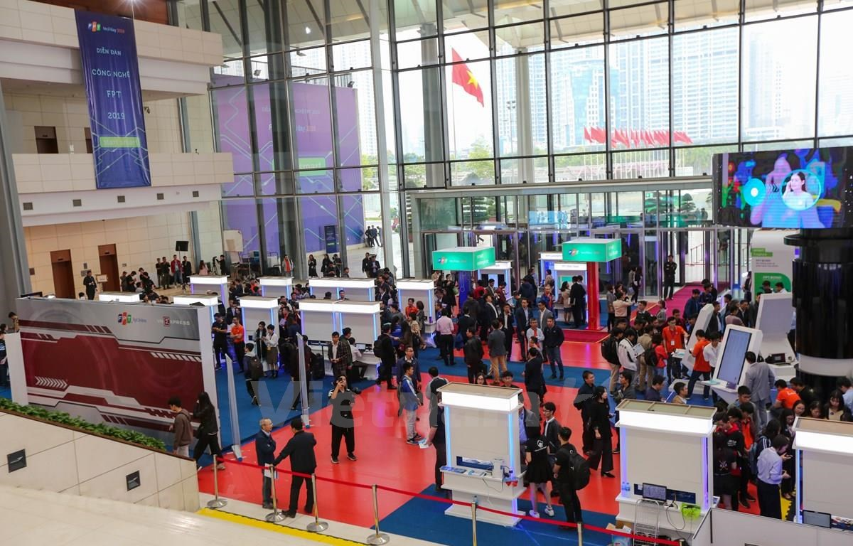 FPT Techday 2019 gathers over 3,000 participants, including 500 senior leaders of large enterprises and banks. (Photo: VietnamPlus)