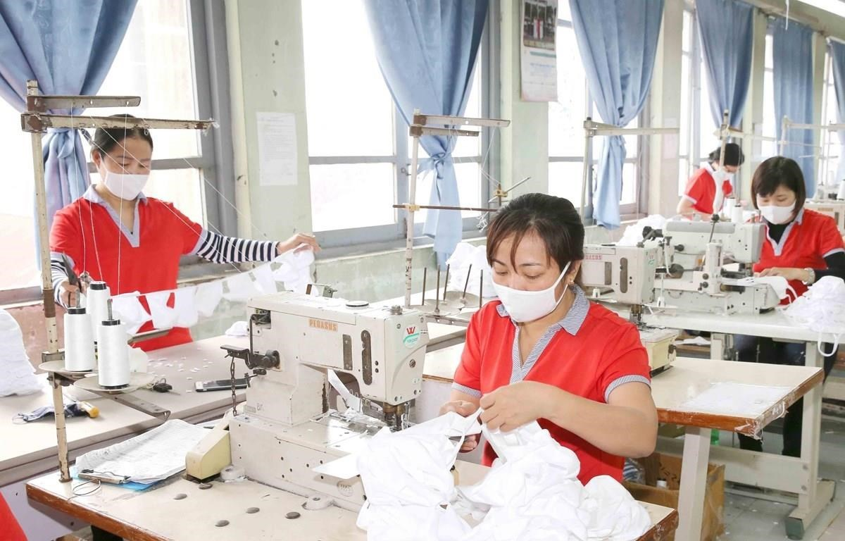 Many textile and apparel firms in Vietnam are forced to cut working hours due to the impact of COVID-19. (Illustrative photo: VNA)