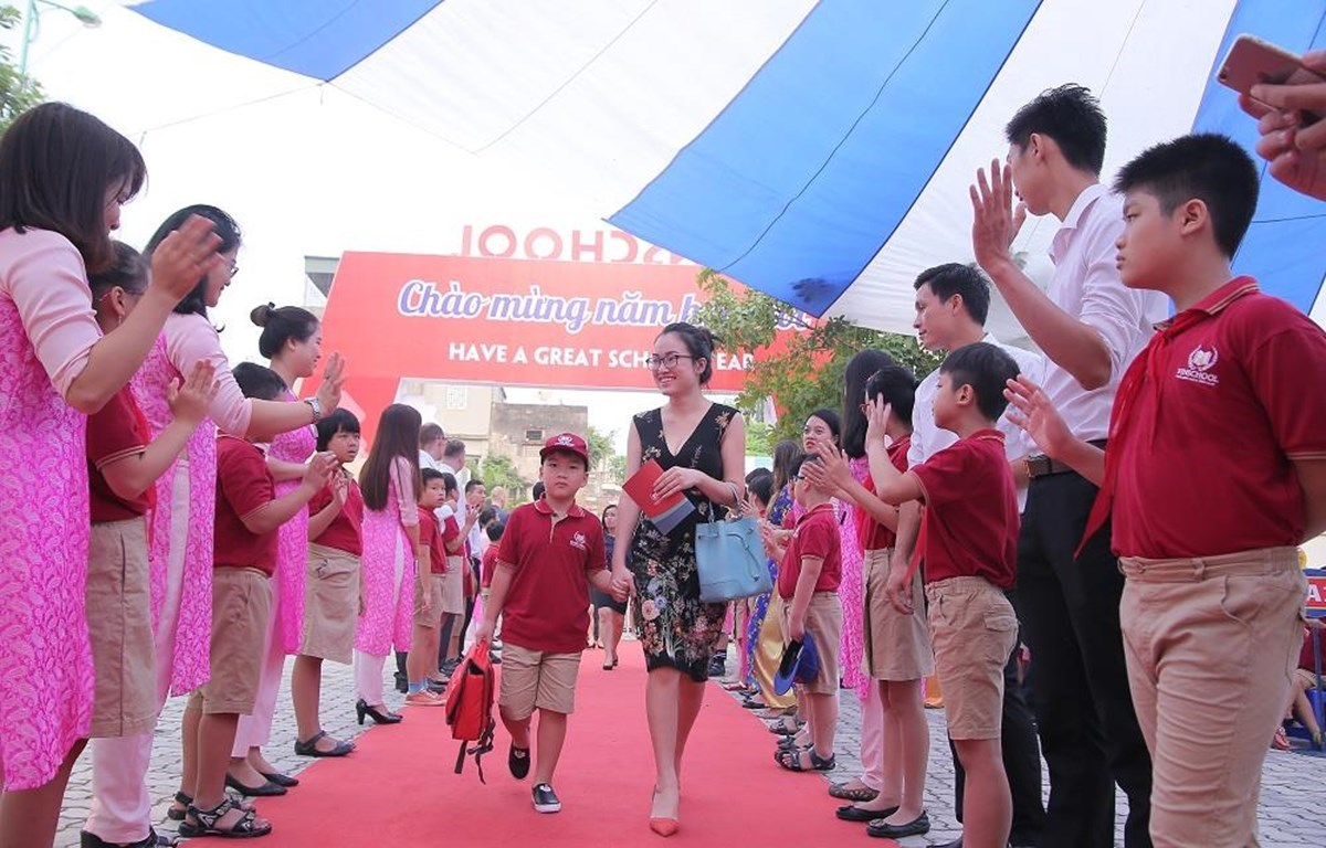 Happiness at new school-year opening day (Photo: VietnamPlus)