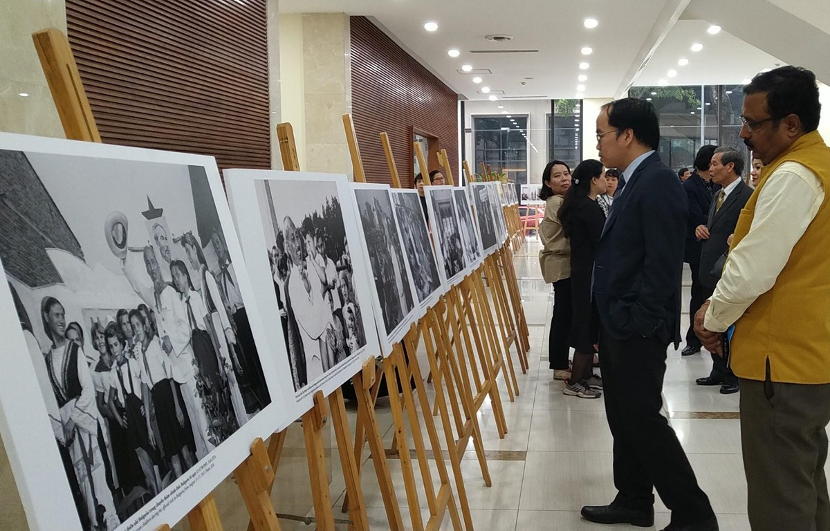 The exhibition attracts many visitors who are representatives of diplomatic agencies and foreign organisations (Photo: VietnamPlus)