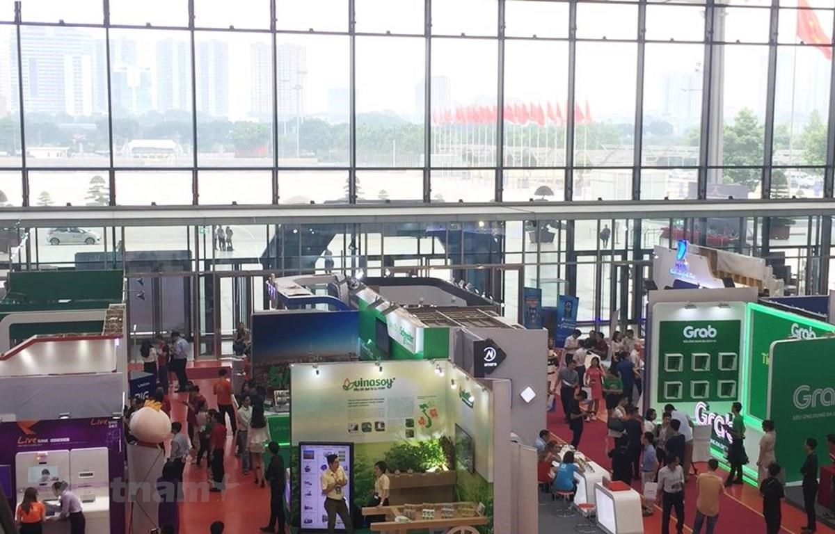 At the high-level international forum and exhibition on the Fourth Industrial Revolution 2019 (Photo: VietnamPlus)