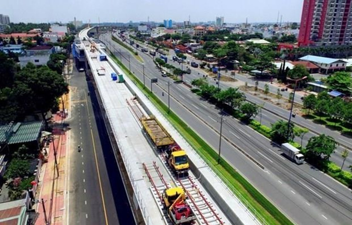 An overview of the Ben Thanh – Suoi Tien metro project which is funded by ODA capital. Illustrative image (Photo: VNA)