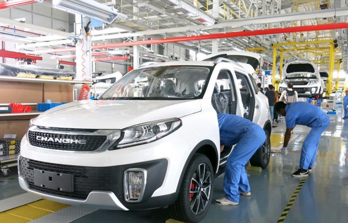 China-Myanmar joint venture rolls out first car assembled in Myanmar