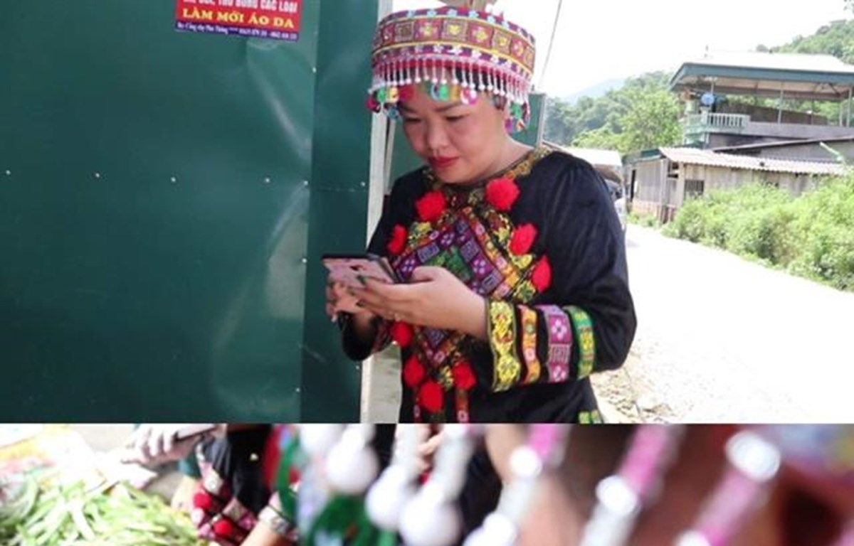 Bac Kan's ethnic women sell local products online