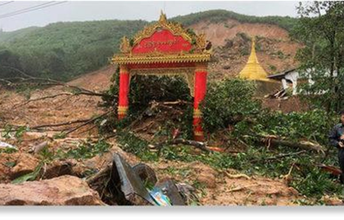 Myanmar: At least 15 killed in landslide by monsoon rain