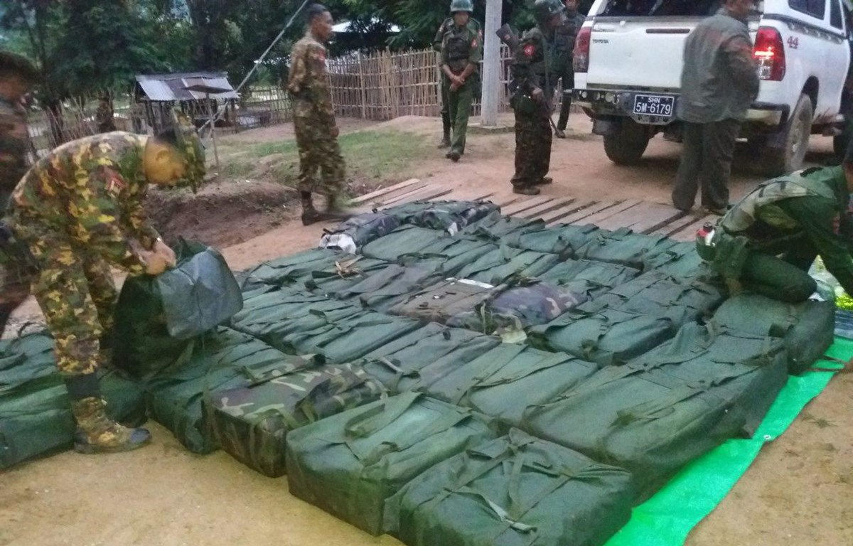Myanmar seizes nearly 800kg of meth in Shan state