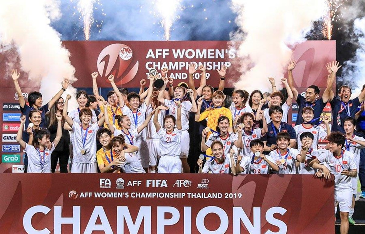 Women's national football team gets rewards for AFF champ title
