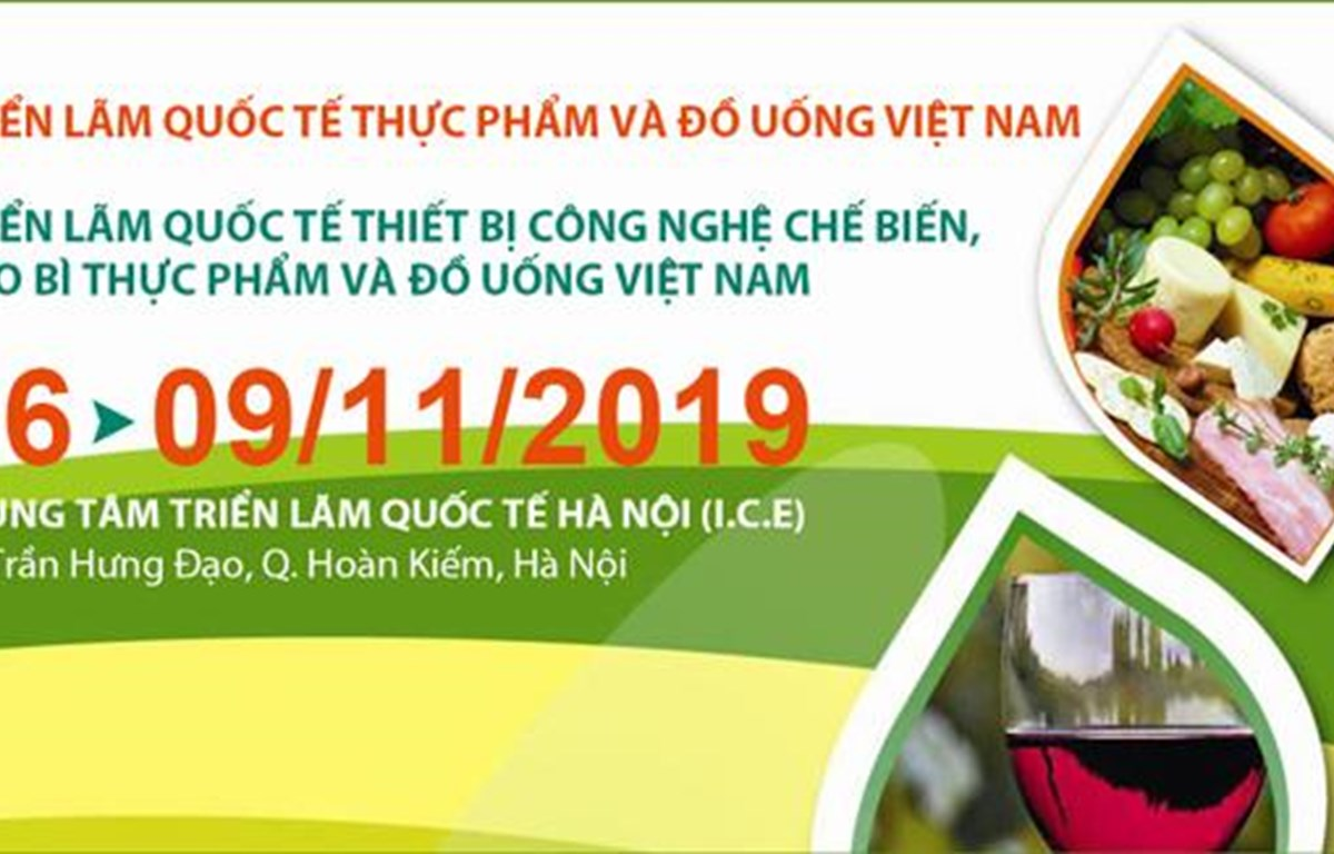 Int'l food, beverage expo to take place in Hanoi in November
