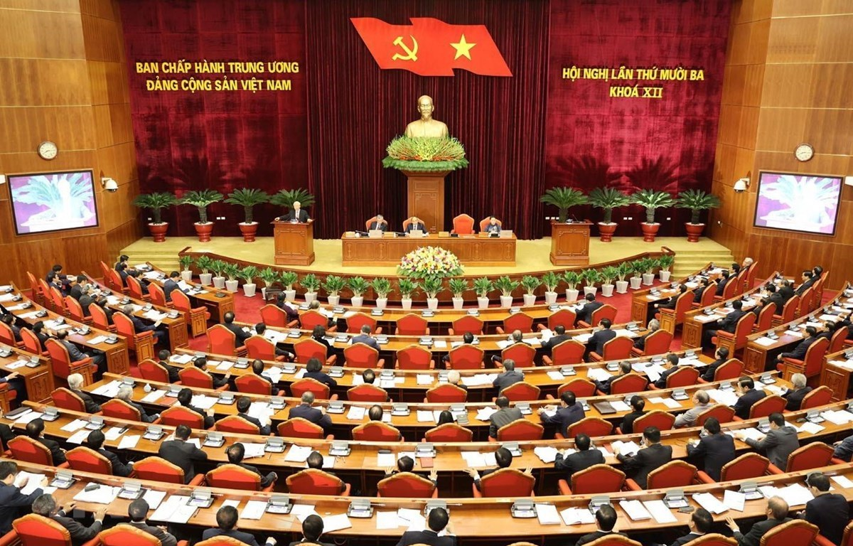 An overview of the opening of the 13th session of the 12th Party Central Committee (Photo: VNA)