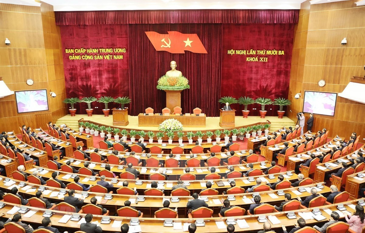 The 13th plenum of the 12th Party Central Committee (PCC) wraps up in Hanoi on October 9 after five working days. (Photo: VNA)