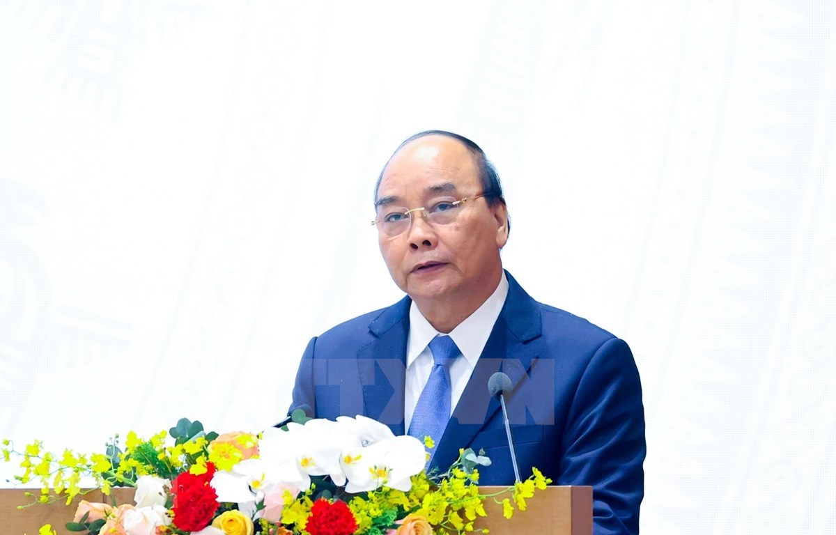 PM Nguyen Xuan Phuc concludes the conference between the Government and localities. (Photo: VNA)