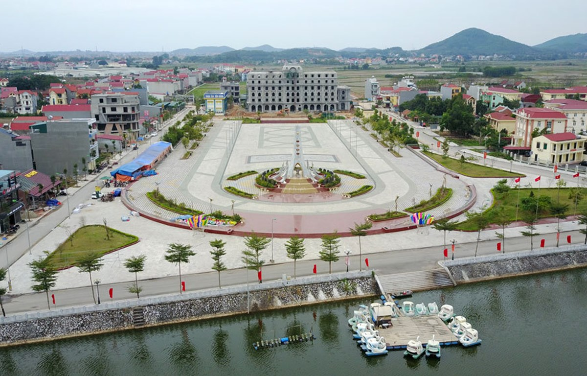 The centre of Bich Dong Township in Viet Yen District. (Photo: snv.bacgiang.gov.vn)