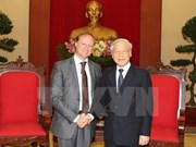 Party leader meets outgoing Belgian ambassador