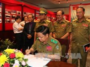 Exhibition on Laos, Vietnam police cooperation opens in Laos