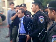 Cambodia's opposition senator arrested for treason