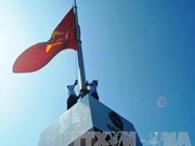 Flagpole inaugurated on northeast outpost island