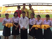Vietnamese athletes win medals at Thai Open