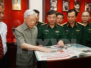 Party leader guides army newspaper