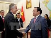 Deputy PM greets former UK Prime Minister