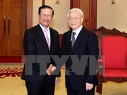 Leaders welcome Lao guests