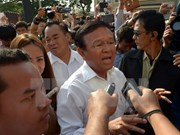 Cambodia: demonstrators urge legislature leader to resign