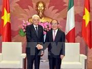 Vietnam's legislative leader meets Italian President