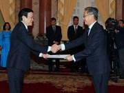 President greets ambassadors of Laos, Ghana, Macedonia