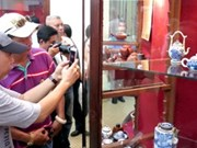 HCM City exhibits antique tea sets