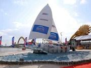 Clipper's sailing boat model on display in Da Nang