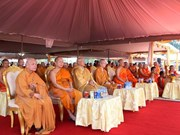 Laos cremates Buddhist association leader