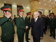 Party leader visits High Command of Hanoi capital city
