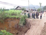 Large sinkhole in Bac Kan province filled in