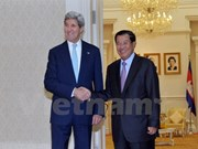 Cambodia PM talks with US Secretary on regional issues