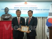 ASEAN-Korea Centre's former chief acknowledged with insignia