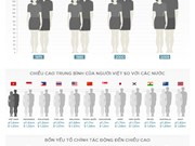 Vietnamese's average height increases insignificantly after a decade