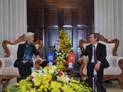 Central bank governor meets with IMF leader