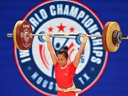 Huyen wins silver at Asian weightlifting championships