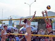 Asian women's beach volleyball tournament kicks off in Ha Long