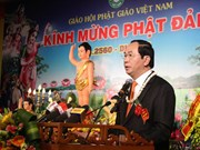 State President attends Buddha birthday celebration