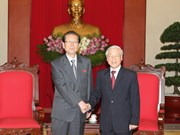Party chief greets DPRK Workers' Party delegation