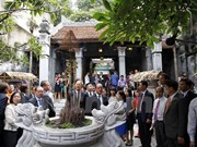 French President hails preservation of Hanoi Old Quarter