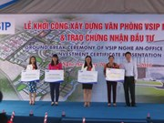 VSIP Nghe An builds office area