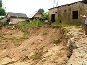 Riverbank erosion threatens lives in central region