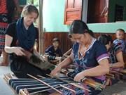 Belgian helps Co Tu weaving